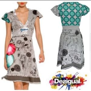 Desigual Mini Dress, short Sleeves  - Size XS